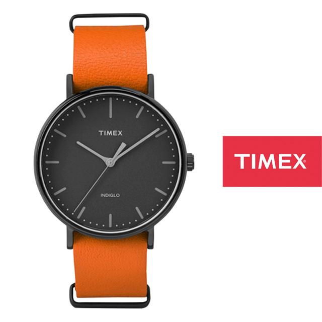 TIMEX タイメックス メンズ レディース 腕時計 Weekender Fairfield ウィークエンダーフェアフィールド レザーベルト41mm TW2P91400 [オレンジ/革ベルト/レザーベルト]