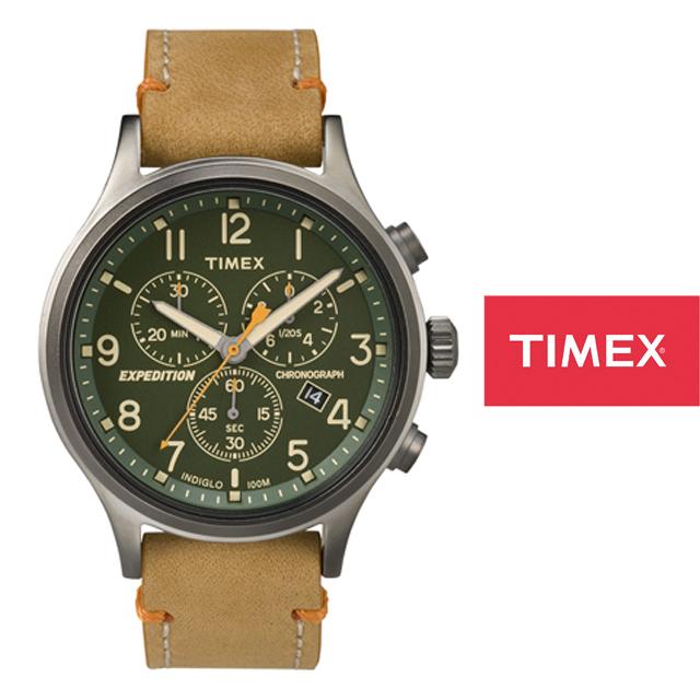 TIMEX タイメックス メンズ レディース 腕時計 エクスペディション スカウトメタルクロノ TW4B04400 [タン/革ベルト/レザーベルト]
