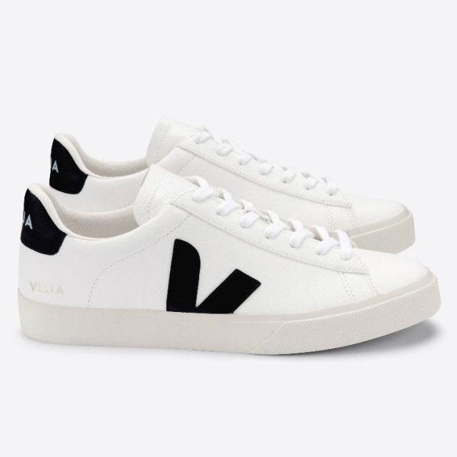 ヴェジャ VEJA CAMPO WHITE BLACK レディース スニーカー サスティナブル ヴィーガン CP051537