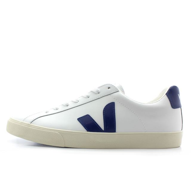 ヴェジャ VEJA ESPLAR LOW LOGO LEATHER EXTRA WHITE / COBALT メンズ レディース スニーカー EO022145