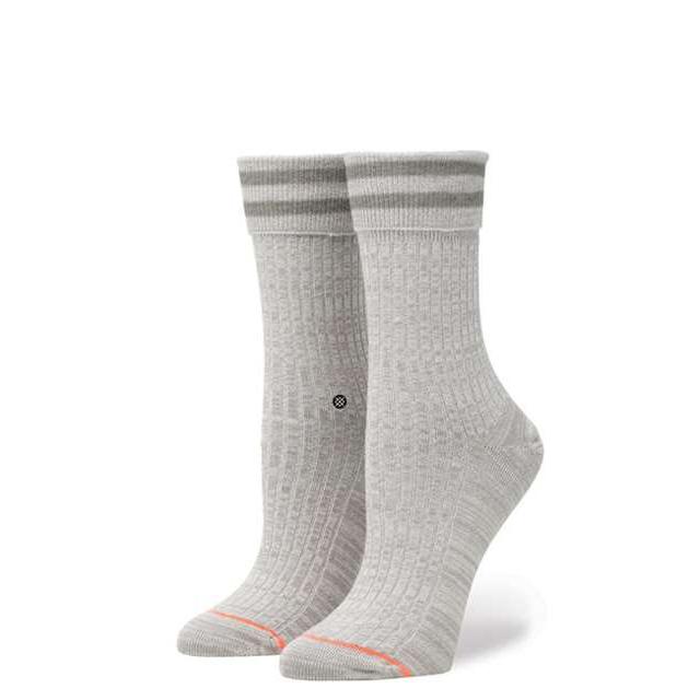 スタンス ソックス STANCE SOCKS レディース ボーダー柄 靴下 くつ下 ハイソックス UNCOMMON ANKLET GREY W425A17UCS-GRY / Sサイズ(22.0-25.0cm)