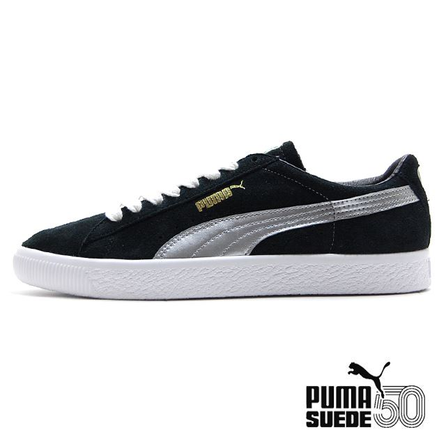 PUMA Suede 90681S BLACK SILVER LIMITED EDITION 366102-01