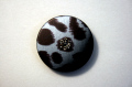 SWAROVSKI 入りボタン(15mm)【色:グレー/茶】