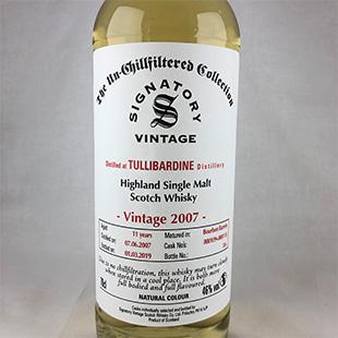 タリバーディン11年 2007 シグナトリー アンチルフィルタードコレクション 46%