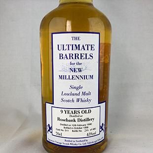 【オールドボトル】ローズバンク9年1990 シグナトリー 43% 700ml