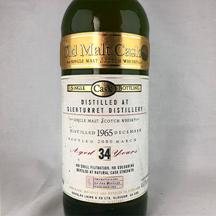 【オールドボトル】グレンタレット34年1965 ダグラスレイン オールドモルトカスク 45.3% 700ml