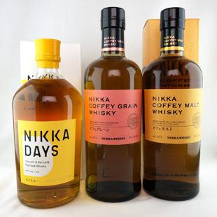 ニッカ3本セット(ニッカ  デイズ/ニッカ カフェグレーン/ニッカ カフェモルト)