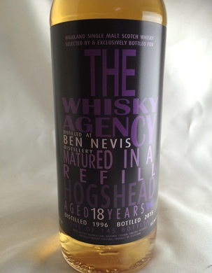 ベンネヴィス18年1996 ウイスキーエージェンシー 51.2°