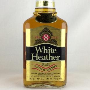 【オールドボトル】ホワイトヘザー8年 80年代前半流通 43% 750ml