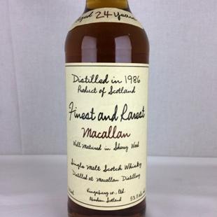 【オールドボトル】マッカラン24年1986 キングスバリー ファイネスト&レアレスト 53.5% 700ml