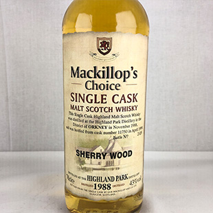 【オールドボトル】ハイランドパーク11年1988 マキロップチョイス 43% 700ml