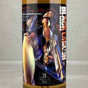 『ブラックラグーン』ラベル アードモア21年1997 50.4% 700ml