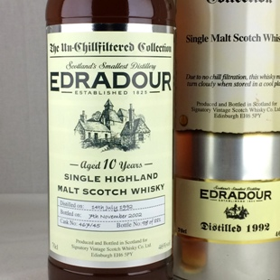 【オールドボトル】エドラダワー10年 1992 シグナトリー