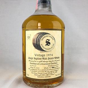 【オールドボトル】リンクウッド26年1974 シグナトリー 56.1% 700ml