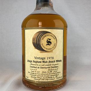 【オールドボトル】グレンタレット20年1978 シグナトリー 53.8% 700ml
