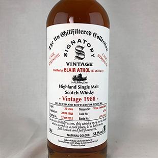 ブレアアソール26年1988 シグナトリー リンブルグウイスキーフェア 58.2% 700ml