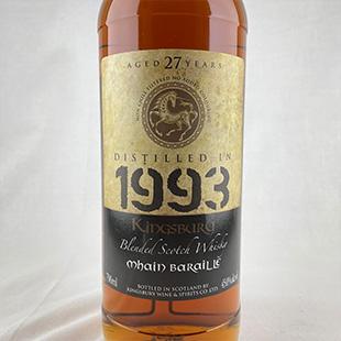 メインバライル27年1993 キングスバリー ゴールド 45% 700ml