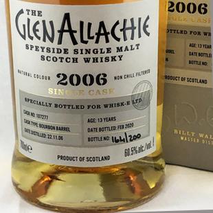 グレンアラヒー2006 13年 バーボンバレル 60.5%