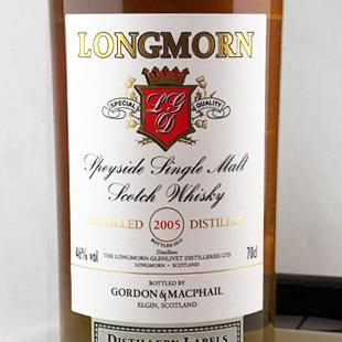 ロングモーン2005 GM 蒸留所ラベル 46%