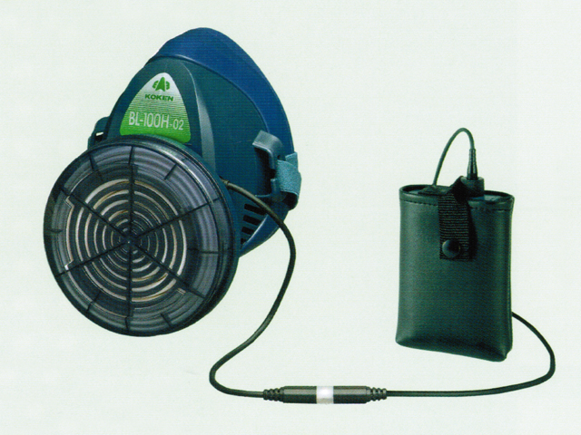 BL-100H電動ファン付き呼吸用保護具(半面形)