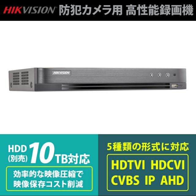 防犯カメラ用レコーダー 録画機 iDS-7204HQHI-K1/2S HIKVISION|HDTVI/HDCVI/CVBS/ IP/AHD対応|ColorVu対応|HDD10TB対応|送料無料