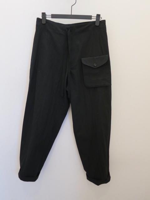 Y's YOHJI YAMAMOTO (ワイズ ヨウジヤマモト),ライトセーヌキャンバスデタッチャブルポケットパンツ:ブラック