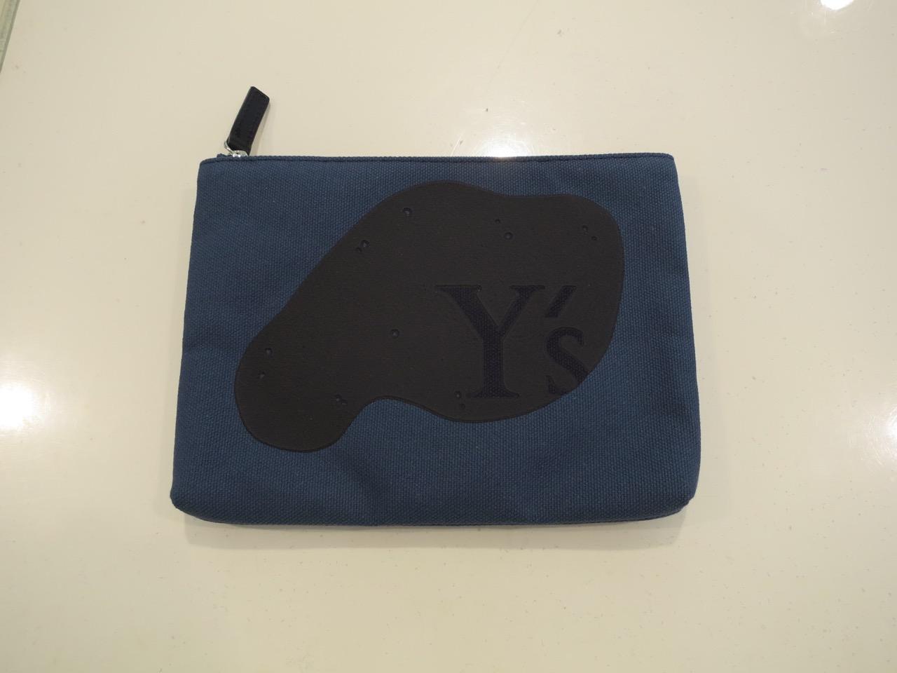 Y's YOHJI YAMAMOTO (ワイズ ヨウジヤマモト),8号頒布Y'sプリントポーチ小:ブルー