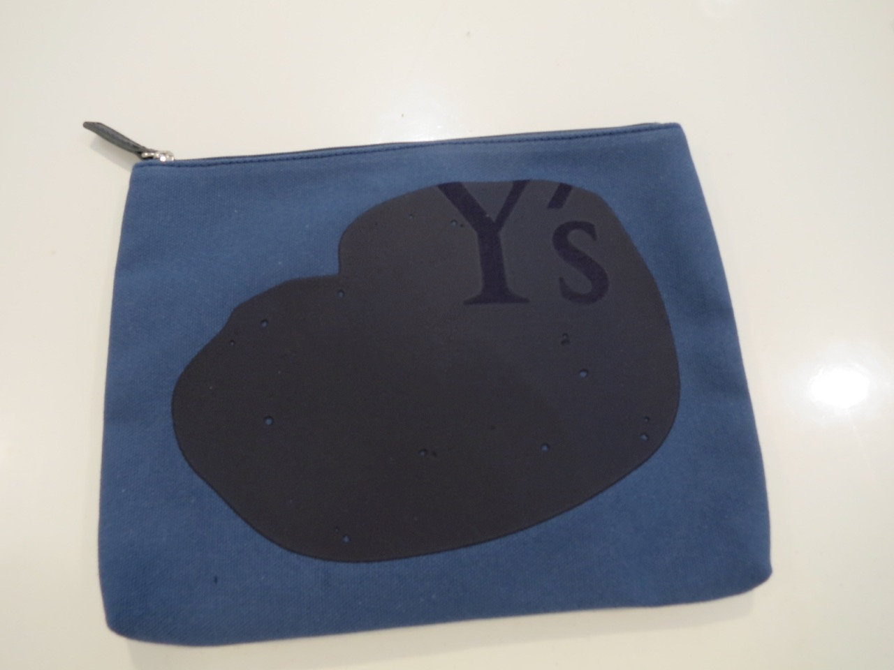 Y's YOHJI YAMAMOTO (ワイズ ヨウジヤマモト),8号頒布Y'sプリントポーチ大:ブルー