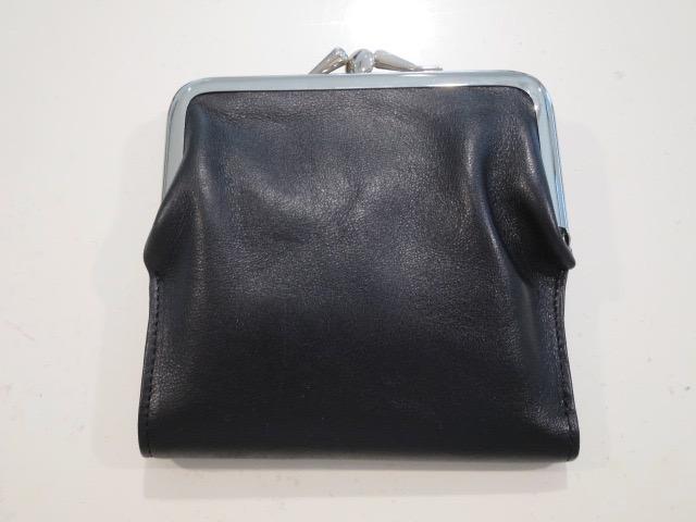 Y's YOHJI YAMAMOTO (ワイズ ヨウジヤマモト),中厚ステア定番財布小:ブラック