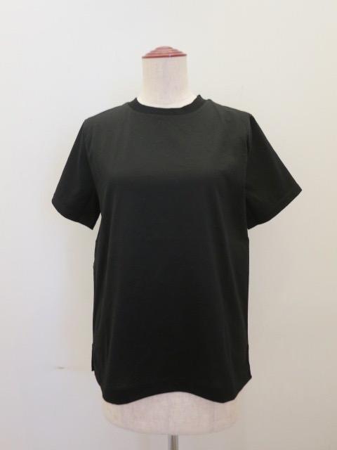 KEI Hayama PLUS(ケイハヤマプリュス),スーピマコットンキャッチャーワッシャー半袖Tシャツ:ブラック