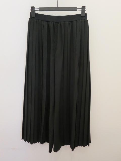 KEI Hayama PLUS(ケイハヤマプリュス),アンタレスライトスエード脇プリーツ太パンツ:ブラック