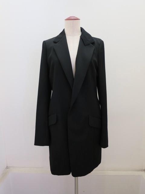 Y's YOHJI YAMAMOTO (ワイズ ヨウジヤマモト),シワギャバ2重衿テーラードジャケット:ブラック