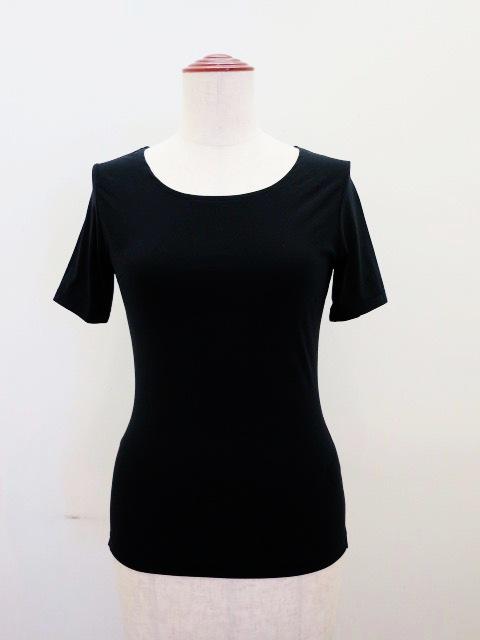Y's YOHJI YAMAMOTO (ワイズ ヨウジヤマモト),Nyストレッチ天竺定番半袖Tシャツ:ブラック