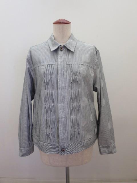 KEI Hayama PLUS(ケイハヤマプリュス) ヒッコリージャガードシャドードットジャケット:グレー