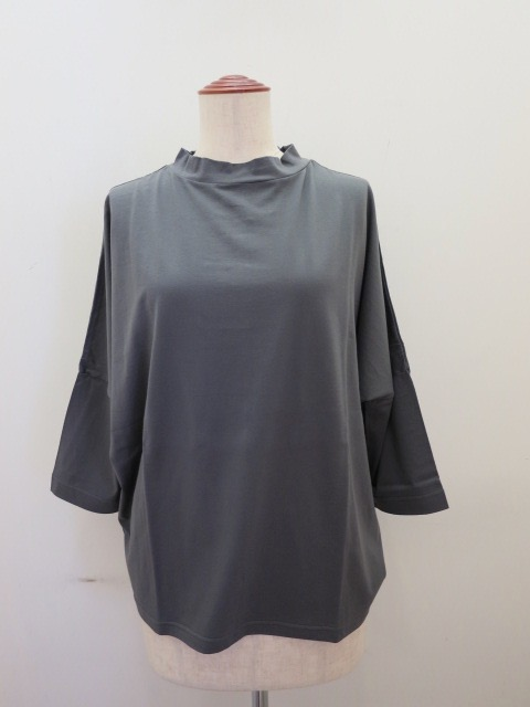 KEI Hayama PLUS(ケイハヤマプリュス) 100/2スピン天竺バイオ台襟Tシャツ:グレー