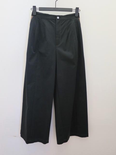 ロジェ(ROSIER) リオベルラックスチノ2本ダーツ太パンツ:ブラック