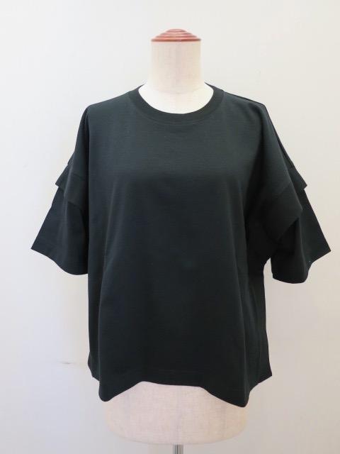g.ジードット  スクエアー半袖Tシャツ:ブラック