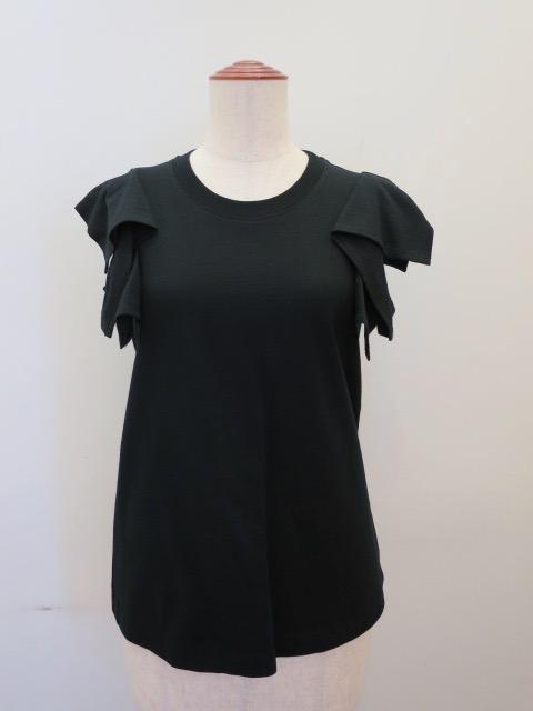 g.ジードット  ノースリーブTシャツ:ブラック