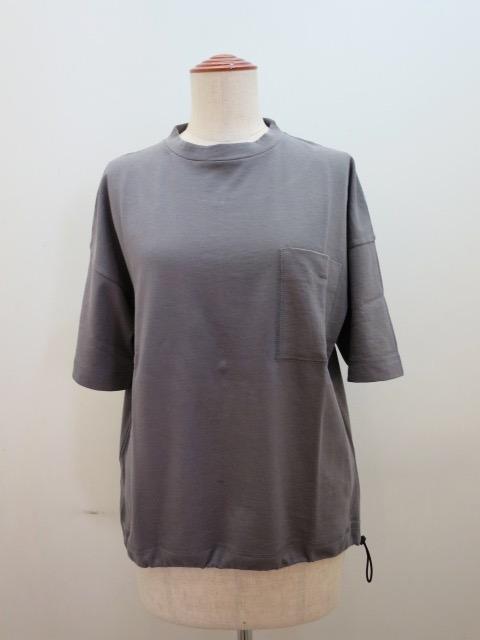 KEI Hayama PLUS(ケイハヤマプリュス) プレミアムミニ裏毛半袖プルオーバー:グレー