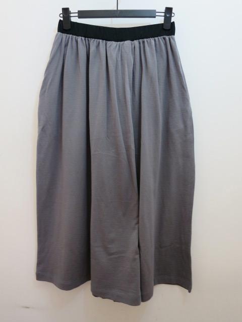 KEI Hayama PLUS(ケイハヤマプリュス)プレミアムミニ裏毛ウエストゴム 八分丈太パンツ:グレー