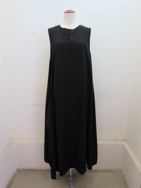 Y's YOHJI YAMAMOTO (ワイズ ヨウジヤマモト) 右フラシロングドレス:ブラック