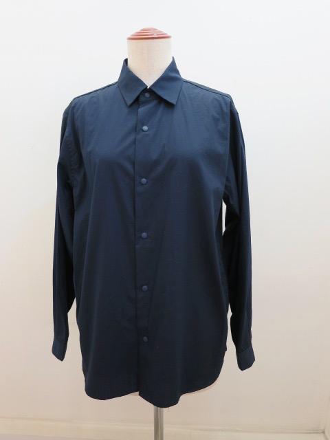 ロジェ(ROSIER) スナップボタンシャツジャケット:ネイビー