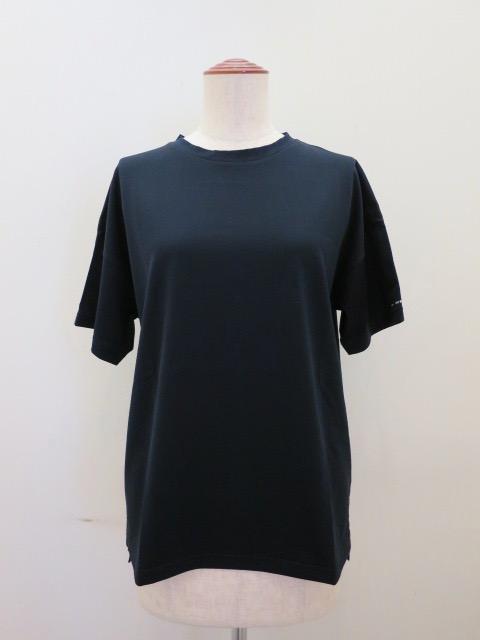 KEI Hayama PLUS(ケイハヤマプリュス) スーピマ天竺バイオ肩ステッチ入り半袖Tシャツ:ネイビー