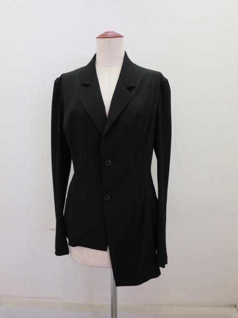 Y's YOHJI YAMAMOTO (ワイズ ヨウジヤマモト)アシメダーツジャケット:ブラック