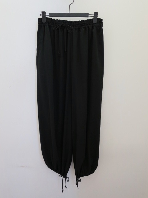 Y's YOHJI YAMAMOTO (ワイズ ヨウジヤマモト) パラシュートパンツ:ブラック