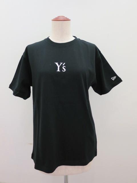 Y's YOHJI YAMAMOTO (ワイズ ヨウジヤマモト) NEWERR×Y'sコラボ半袖Tシャツ: ブラック