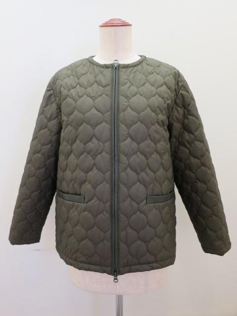 ロジェ(ROSIER) マイクロタフタキルティングジャケット:カーキグリーン