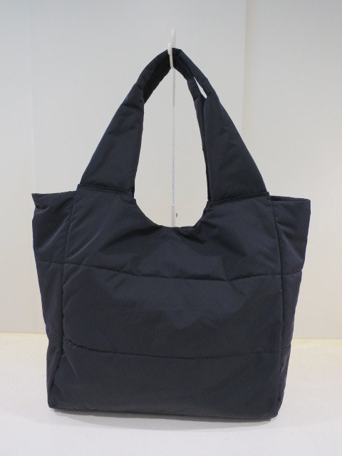 KEI Hayama PLUS(ケイハヤマプリュス) メモリーギャバ中綿トートバッグ:ブラック