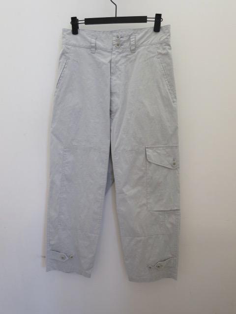 Y's YOHJI YAMAMOTO (ワイズ ヨウジヤマモト) 高密度オックス片ポケットミリタリーパンツ:ライトブルー