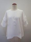 g.ジードット  スクエアー半袖Tシャツ:ホワイト
